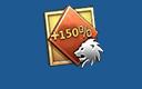 150%银狮币加成卡×3